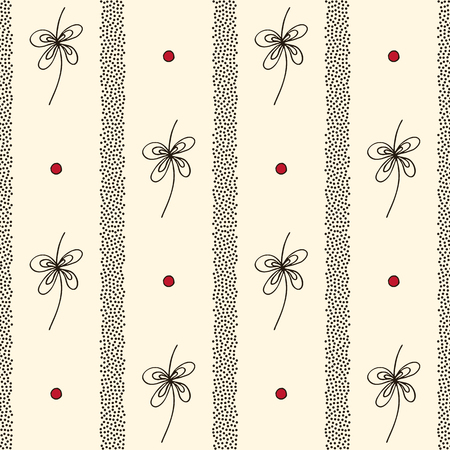 Abstract vertical stripes and stylized decor vector seamless pattern. Hand drawn stylish minimalistic ornament. Elegant ornate texture for surface design, textile, wrapping paper, wallpaper, fabric. Ilustrace