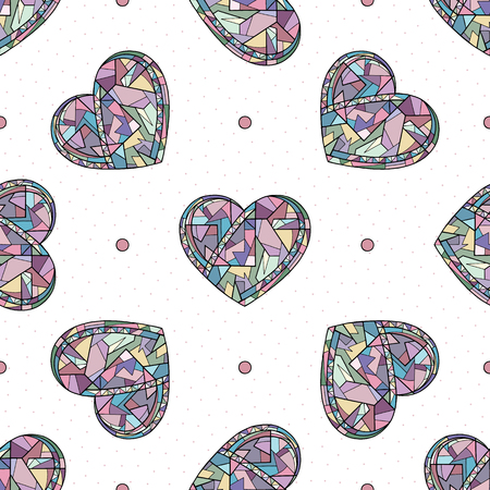 Hearts hand drawn vector seamless pattern. Valentines day background. Love texture for surface design, textile, wrapping paper, wallpaper, phone case print, fabric. Holidays art