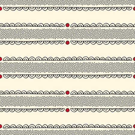 Dotted ornate stripes vector seamless pattern. Abstract dots tracery texture for surface design, textile, wrapping paper, wallpaper, phone case print, fabric.
