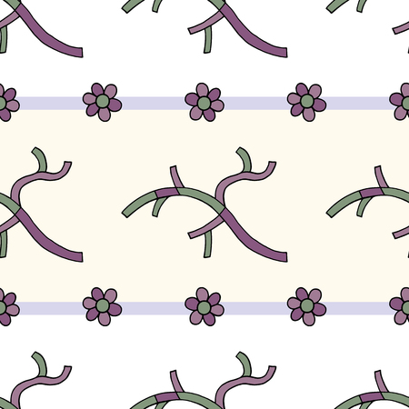 Abstract branches with flowers hand drawn vector seamless pattern. Spring nature drawing background. Stylish texture for surface design, textile, wrapping paper, wallpaper, phone case print, fabric.