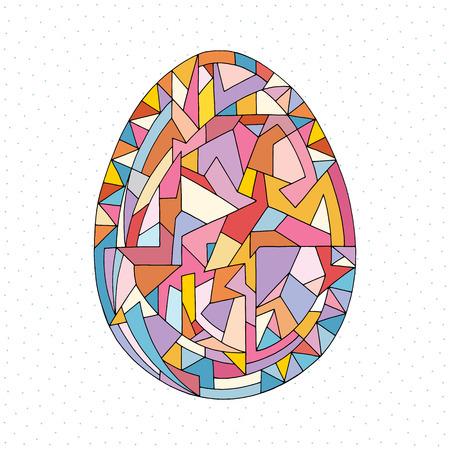 Osterei-Vektor-Illustration. Handgezeichnetes abstraktes Feiertagsobjekt im modernen Cartoon-Stil Vektorgrafik