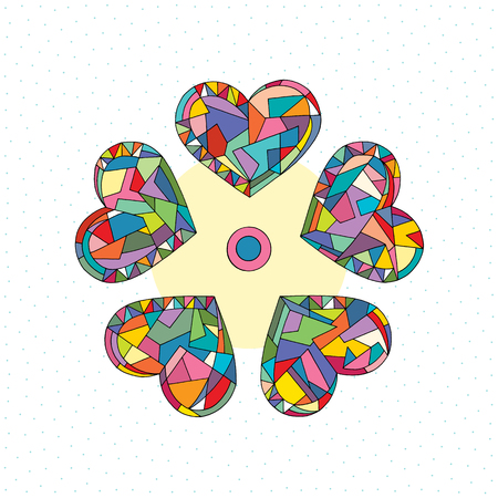 Hearts hand drawn abstract vector illustrations. Love cartoon background in modern style. Ilustrace