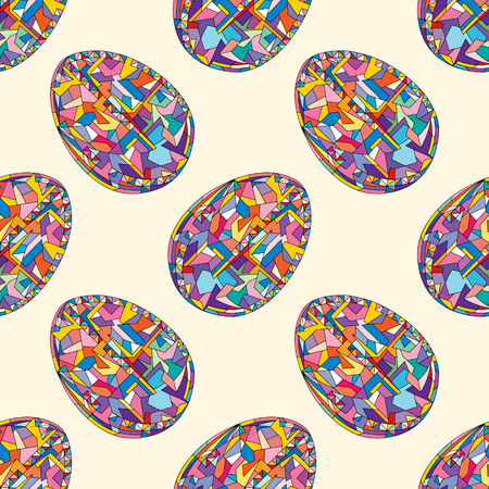 Easter eggs vector seamless pattern. Hand drawn abstract spring holidays background in modern style for surface design, textile, wrapping paper, wallpaper, phone case print, fabric, print of clothes.