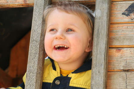 dinky: young boy Stock Photo