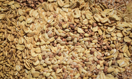 groats: raw groats and cereals backgraund Stock Photo