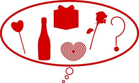 kiválasztás: Valentin kiválasztási alakot Illusztráció