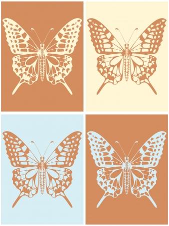 swallowtail butterfly: Machaon silhouette quattro