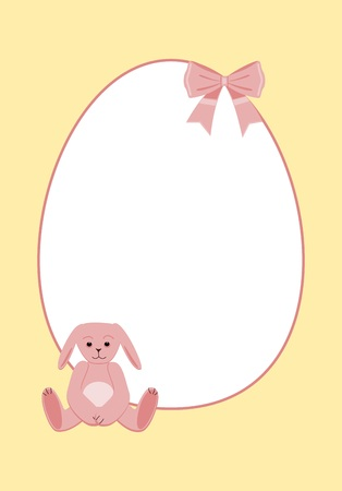 Happy easter pastel rabbit Vector