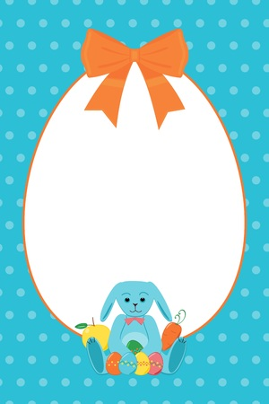 Happy easter blue bright Vector