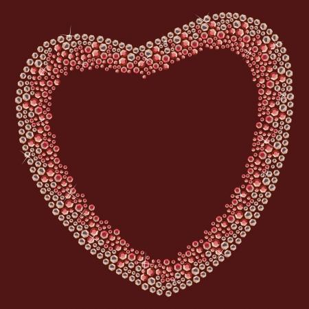 Gems heart blicks Vector