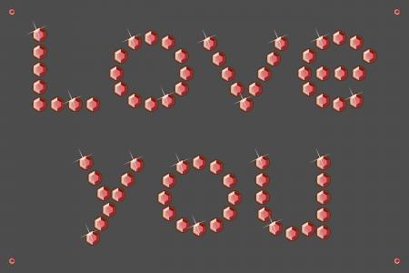 Love you gems blicks Stock Vector - 25469746