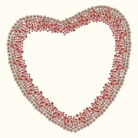 Gems heart simple Stock Vector - 25469778