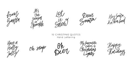Hand drawn lettering quote templates bundle. Unique vector script collection of posters. Custom  typography print for t shirts,bags,posters,merch,banners.