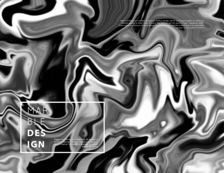 Marble art pattern. Modern and original liquid texture. Abstract background template. Good for design covers, presentation, invitation, flyers, posters, business cards and social media.Black and white monochrome