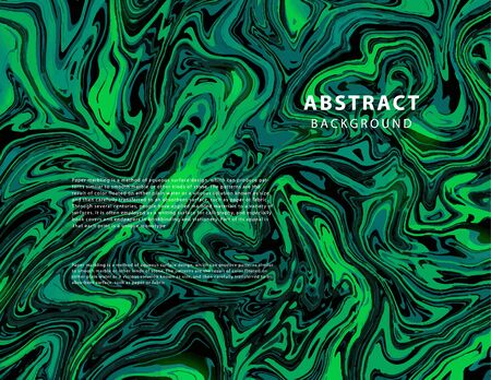 Marble art pattern. Modern and original liquid texture. Abstract background template. Good for design covers, presentation, invitation, flyers, posters, business cards and social media.Blue, green amd black