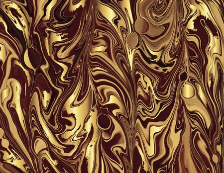 Coffee brown gold marble abstract background template.Modern and original liquid texture.Good for design covers, presentation, invitation, flyers, posters, business cards and social media.