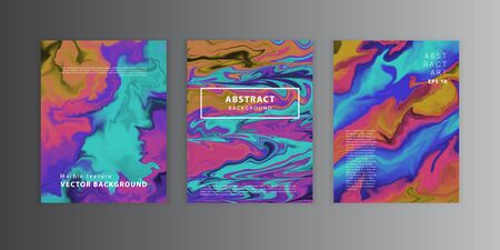 Vector abstract unicorn holographic iridescent pattern.Colorful gradient background in modern 80 - 90s neon colors. Good for wallpaper,cover, book, printing, gift card, fashion design. Vettoriali