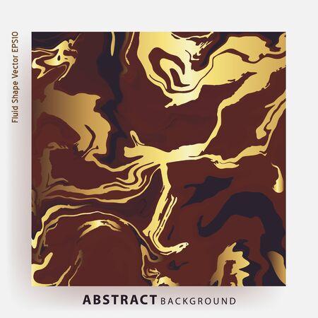 Kawy brązowy złoty marmur streszczenie szablon. Nowoczesna i oryginalna płynna tekstura. Dobre do projektowania okładek, prezentacji, zaproszenia, ulotki, plakaty, wizytówki i media społecznościowe.