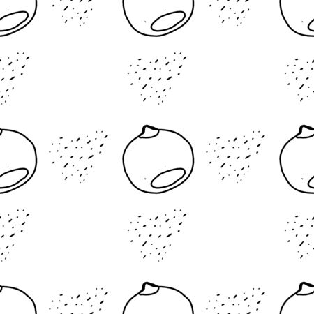 Nuts&seeds seamless pattern