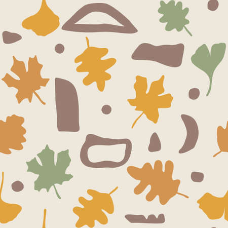 Seamless autumn vector pattern. Perfect for wallpaper, gift paper, pattern fills, web page background, fall greeting cards. Ilustrace
