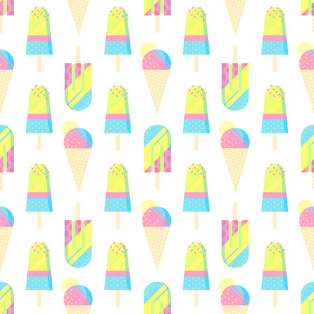 popsicle: Seamless pattern.Colorful ice cream pattern perfect for restaurant menu backdrop, healthy food concept, ice cream bar.