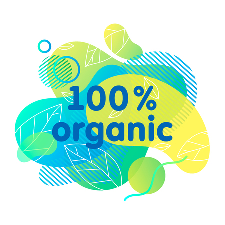 Organic,eco,natural sticker or logo with liquid shapes.Fluid composition perfect for Earth Day,zero waste concept,prints,logos,flyers,banners design and more.Eco friendly lifestyle concept.