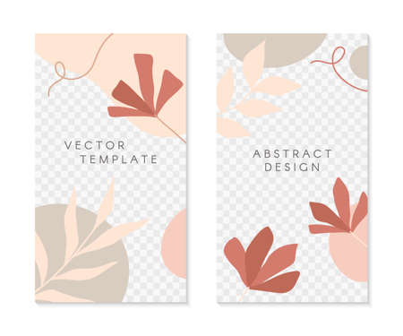 Set of editable insta story templates with copy space for text.