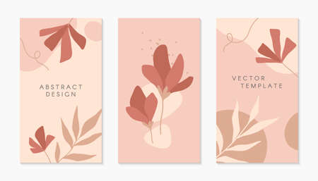 Bundle of editable insta story templates with copy space for text.