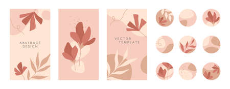 Bundle of editable templates and highlights covers.