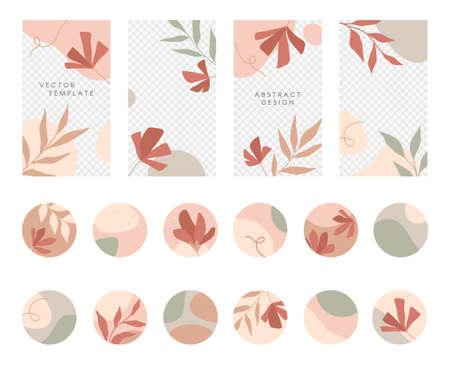 Bundle of editable insta story templates and highlights covers.