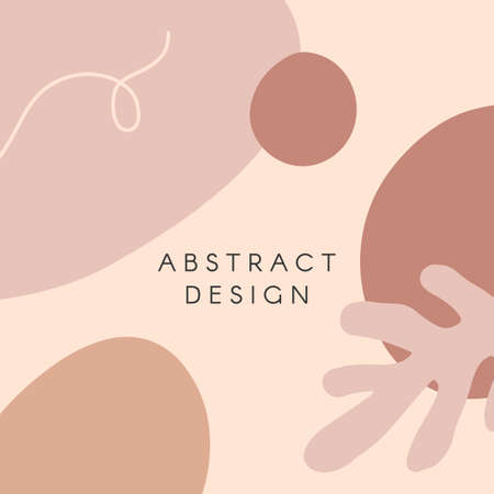 Modern illustration with hand drawn organic shapes, textures and graphic elements.Trendy creative background for social media posts and stories, banners, invitations, branding design, covers Ilustração