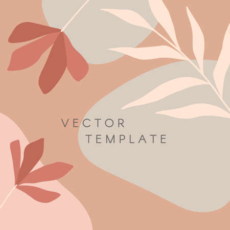 Modern vector illustration with hand drawn organic shapes, textures and graphic elements.Trendy creative background for social media posts and stories, banners, invitations, branding design, covers Ilustração