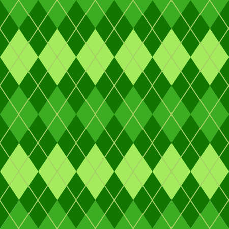 Geometrical seamless pattern with green rhombuses; for wrapping paper, packaging, fabric, textile.