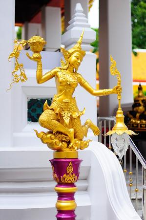 pra: Golden Angel at Wat Pra Kaeo, Thailand