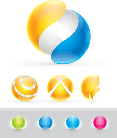 rainbow sphere: Abstract Design Elements Illustration