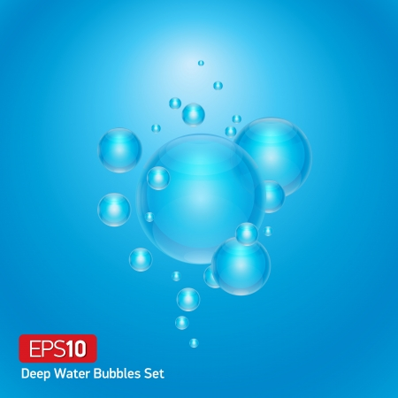 Abstract scene bubbles in deep water Stock Vector - 18235257