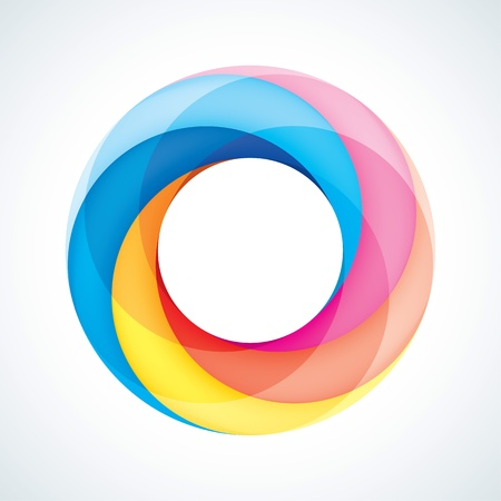 rainbow circle: Abstact Infinite loop logo template  Corporate icon Illustration
