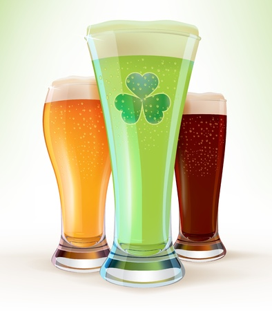 St  Patrick s Day - Glasses of Beer