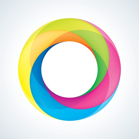 rainbow sphere: Abstact Infinite circle logo template  Corporate icon Illustration