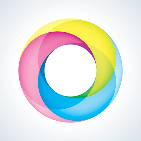 Abstact Infinite circle logo template  Corporate icon Illustration