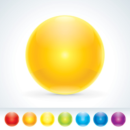 Pretty Glossy Multi-colored Sphere  Design elements  A different colors