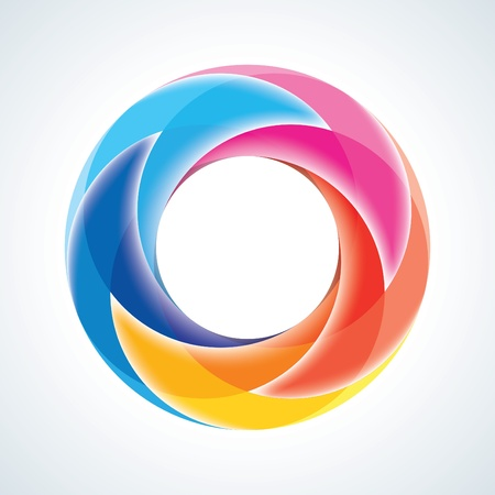Abstract Infinite Loop Sign Template  Corporate Icon  5 Pieces Shape  EPS10
