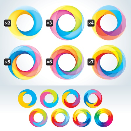 rainbow circle: Set of abstact Infinite loop signs template  Corporate icons