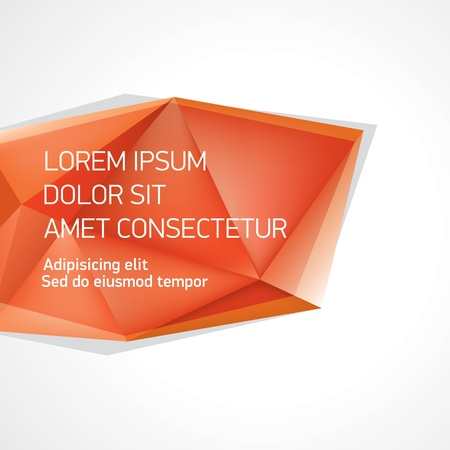 poligonos: Vector de cristal forma bandera Vectores