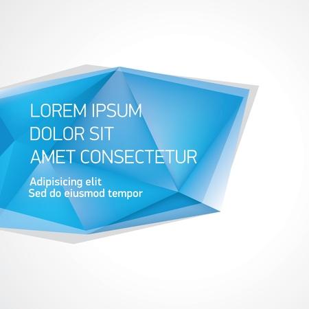 Vector crystal banner shape Illustration