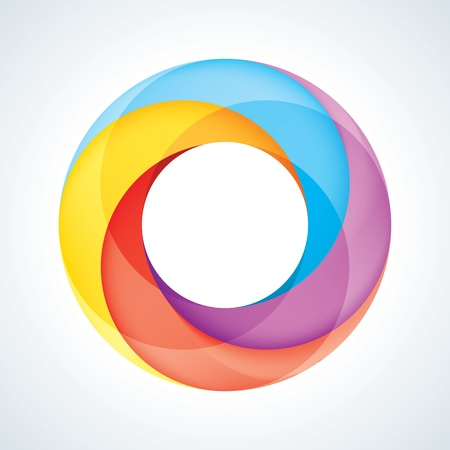 arrow circle: Abstract Infinite Loop Sign Template  Corporate Icon  4 Pieces Shape  EPS10