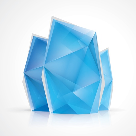 Crystal diamond style infographics Illustration