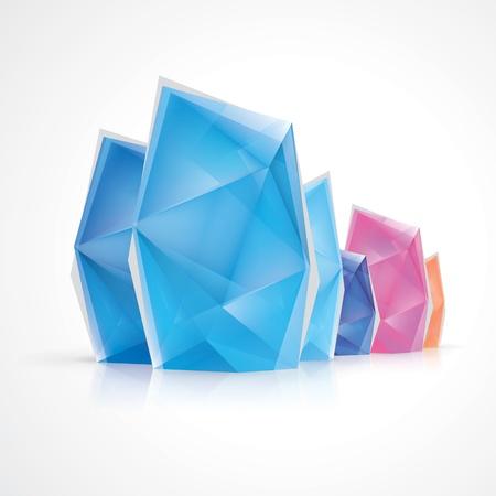 iceberg: Crystal diamond style infographics Illustration
