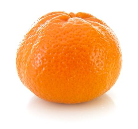 Fresh orange mandarin on a white background Фото со стока