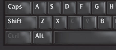 shortcut: Computer keyboard keys used CTRL, C and V for copypaste